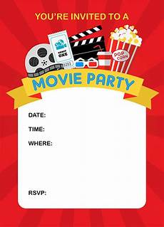 Movie Themed Invitation Template Free How To Throw A Fun Backyard Movie Party And Free Printable