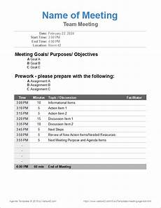 Agenda Office 10 Free Meeting Agenda Templates Word And Google Docs