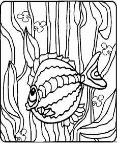 verzierter fisch mit algen ausmalbild malvorlage tiere
