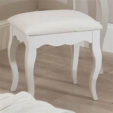 antique white dressing table stool with cushion