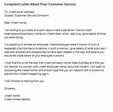 Customer Service Letter Sample 2 Complaint Letter To Service Provider Examples Pdf