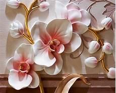 flower wallpaper modern beibehang photo wallpaper 3d phalaenopsis relief wall
