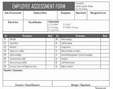 Employee Assessment Form Employee Assessment