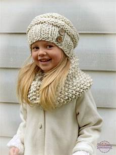 knit for kids knit toddler slouchy hat and cowl scarf set in