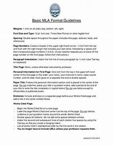 How To Write A Mla Style Research Paper Mla Format Guidelines