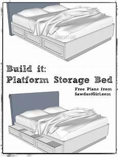 cal king platform storage bed free plans diy storage