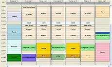 Achieve Planner Sample Time Chart Shown In The Background