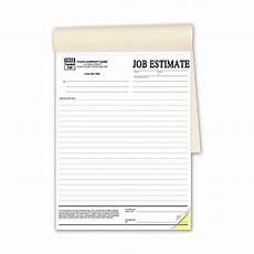Job Estimates Duplicate Job Estimate Forms In Books Free Shipping