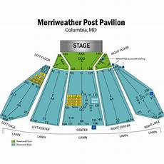 Merriweather Post Seating Chart 2018 Merriweather Post Pavilion Seat Map Www
