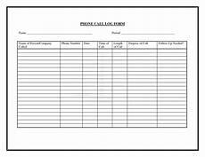 Printable Call Log Phone Call Log Template