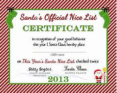 Santa Certificate Free Printable Nice List Certificate From The North Pole