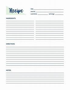 Templates For Recipes Recipe Page Recipe Printable Recipe Card Recipe