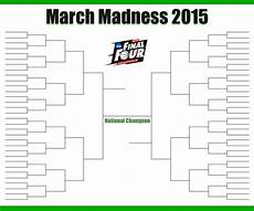 Blank March Madness Bracket March Madness Bracket March Madness Bracket 2016