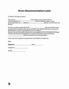 Sample Letter Of Recommendation For New Graduate Nurse Free Registered Nurse Rn Letter Of Recommendation