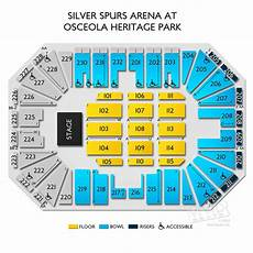 Spurs Seating Chart Silver Spurs Arena At Osceola Heritage Park Seating Chart