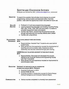 Resume For Engineering Internship Join The Redditresume Critique Project Software