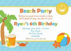 Beach Party Invitation Wording Birthday Party Invitations Wording Samples Free