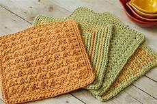 three color simple stitch crochet dishcloth pattern