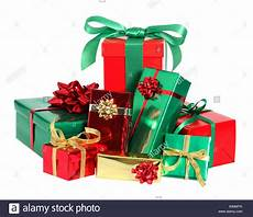 weihnachtsgeschenke foto presents cut out stock images pictures alamy