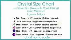 Rhinestone Size Chart Mm Sue S Sparklers Swarovski Crystal Round