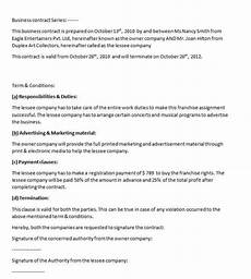 Business Contracts Samples Business Contract Template Contract Agreements Formats