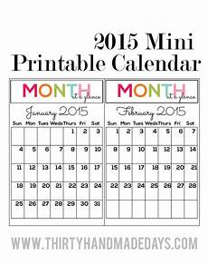 Mini Calendars To Print Holiday Mini Binders Printables Included