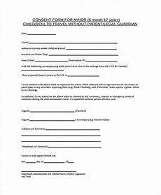 Child Travel Consent Form Samples Free 42 Consent Forms In Pdf Ms Word Excel