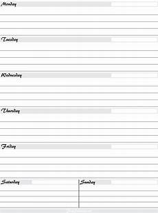 Weekly Planning Sheets Free Printable Weekly Planners Printable Weekly Planner
