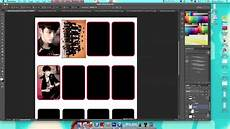 How To Make Template How To Make Photocards With Photoshop Youtube
