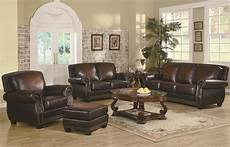 brown leather classic sofa loveseat set w optional items