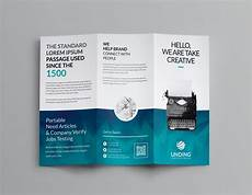 Tri Fold Flyer Ocean Corporate Tri Fold Brochure Template 001169