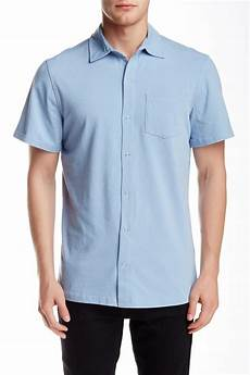sleeve snap shirts for lyst spenglish sleeve snap button shirt in blue