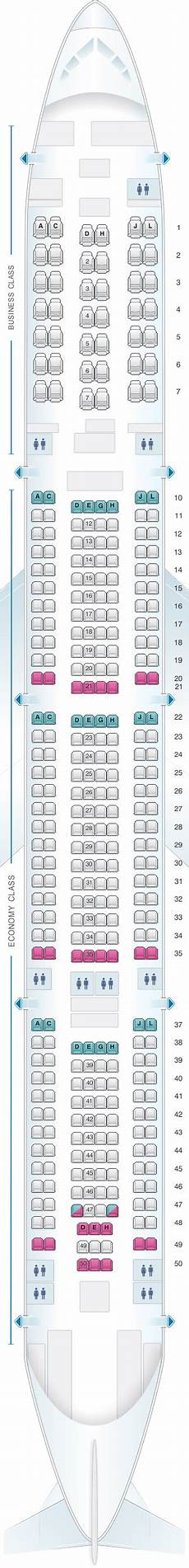 Iberia 2622 Seating Chart Seat Map Iberia Airbus A340 600 342pax Map Airplane