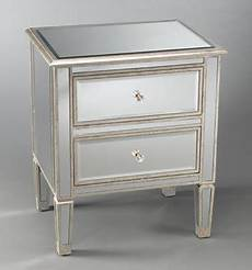 two drawer mirrored bedside table eclectic nightstands