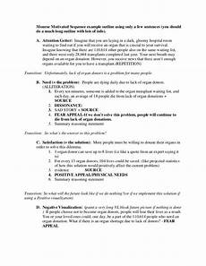 Persuasive Essay On Organ Donation Monroe Motivated Sequence Example Outline Using Only A Few