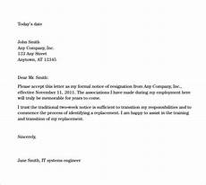 Examples Of Resignation Letters 2 Weeks Notice Sample Resignation Letters 2 Week Notice 8 Free