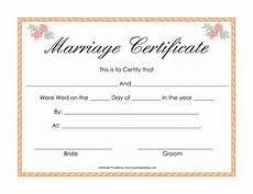 Printable Marriage Certificate Printable Certificate Pdfs Marriage