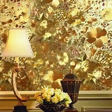 Flower Wallpaper Metallic by Aliexpress Buy Floral Gold Foil Wallpaper Embossed