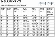 Squat Suit Size Chart Metal Quot M Quot Squat Suit 1 Ply Gometal Com