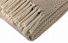 woven throw sofa bed blanket 100 cotton pink teal orange