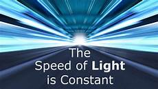 What Is The Speed Of Light Through A Vacuum The Speed Of Light Is Constant Don T Believe That
