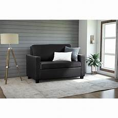 Size Sleeper Sofa 3d Image by Dorel Casey Size Black Faux Leather Sleeper Sofa