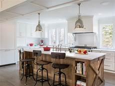 reclaimed wood kitchen island photo page hgtv