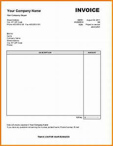 How To Write A Bill For Services Rendered Receipt For Services Rendered Invoice Template Word