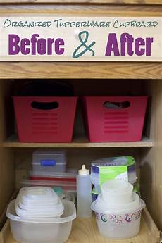how to organize your tupperware cupboard for a