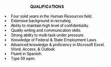 Sample Resume Qualifications And Skills Summary Of Qualifications How To Describe Yourself On