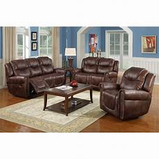 toledo 3 bonded leather reclining living room sofa