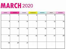 March 2020 Printable Calendar With Holidays Calendar March 2020 Printable Template In Pdf Word Excel