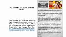 Early Childhood Cover Letter Ppt Early Childhood Education Cover Letter Example