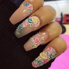 Acrylic Nails With Flower Design 129 Acrylic Nail Art Designs Ideas Design Trends